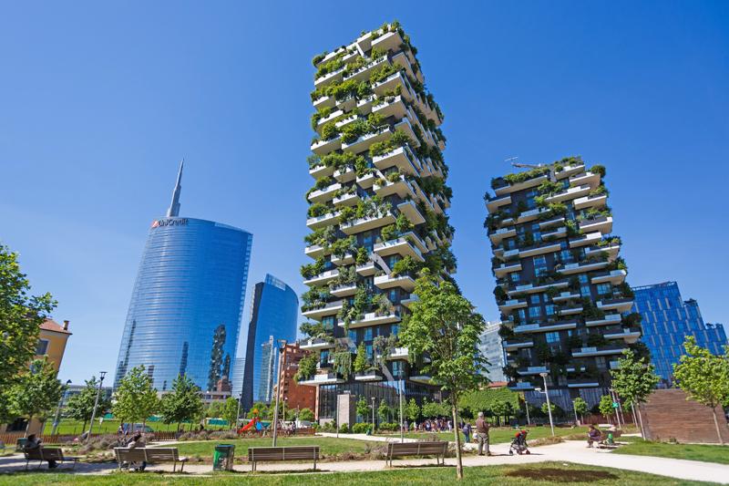 Milano immobiliare Torre Unicredit Giardini verticali