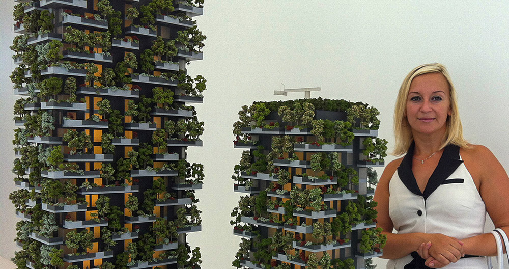 Manzhos grattacieli bosco verticale