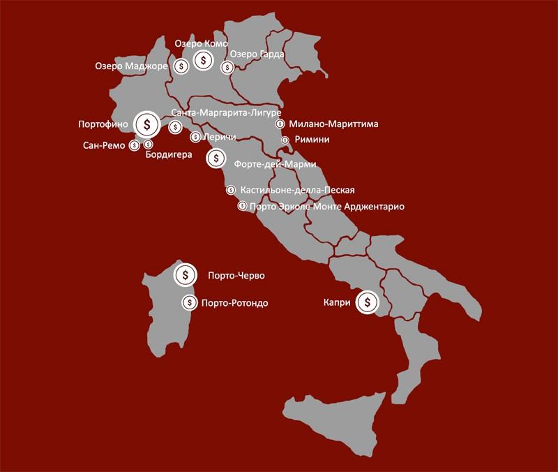 карта италии престижная недвижимость на продажу продажа итальянской собственности